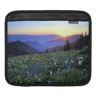 Obstruciton Point Sunset, Olympic NP, WA, USA iPad Sleeve