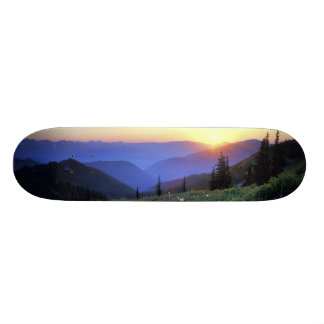Obstruciton Point Sunset, Olympic NP, WA, USA Skateboard Deck