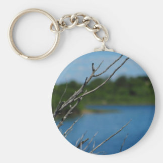 Obstructed Ocean View Basic Round Button Keychain