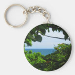 Obstructed Ocean View Key Chain