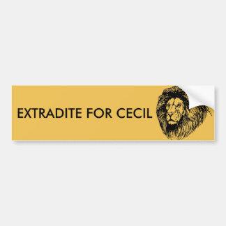 Obtenga la extradición para Cecil Pegatina Para Auto