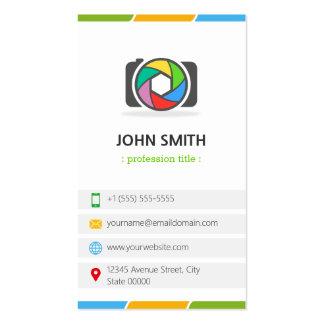 Obturador de cámara multi de la fotografía de tarjetas de visita
