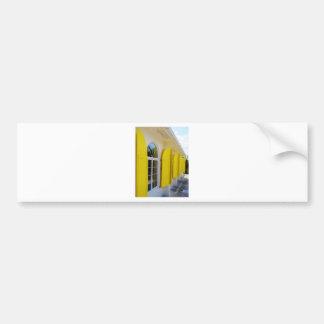 Obturadores amarillos etiqueta de parachoque