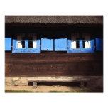 Obturadores azules de la ventana - foto