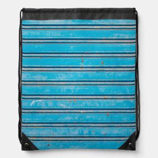 Obturadores azules viejos mochilas