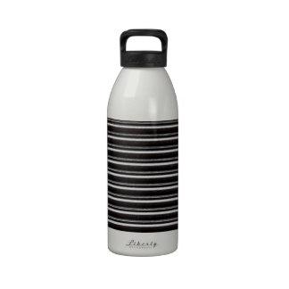 Obturadores de acero negros botella de agua reutilizable
