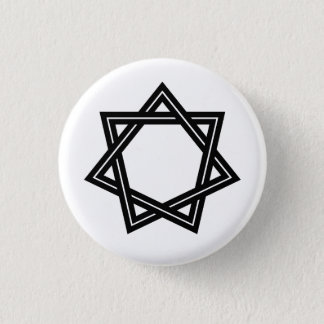 Obtuse Heptagram Button (Black)