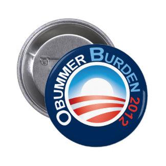 Obummer Burden 2012 Pinback Buttons