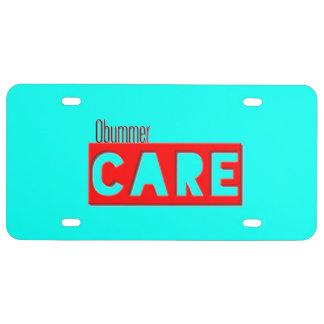 Obummer  Care  Licence Plates License Plate