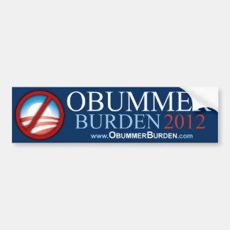 Obummer - carga 2012 - pegatina para el parachoque pegatina para auto