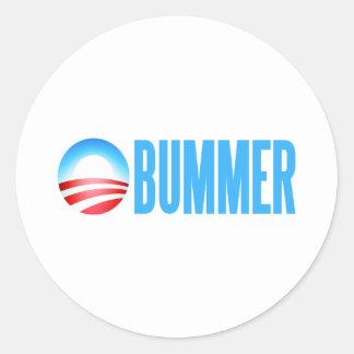 Obummer Obama anti Pegatina Redonda