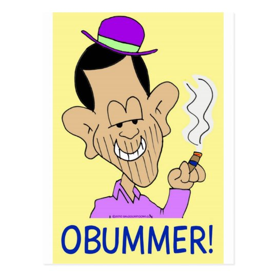 obummer obama bum anti-obama postcard