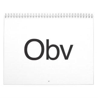 obv calendars