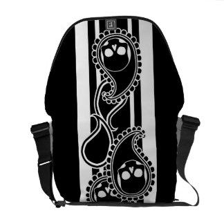 Obverse (Black) Messenger Bag