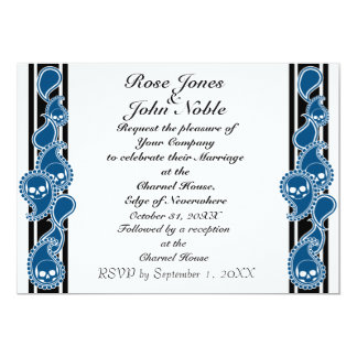 "Obverse (Blue) Wedding Invitation 5"" X 7"" Invitation Card"
