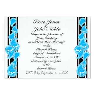"Obverse (Cyan) Wedding Invitation 5"" X 7"" Invitation Card"