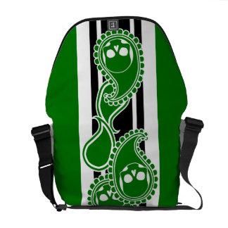 Obverse (Green) Messenger Bag