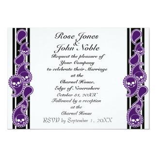 "Obverse (Indigo) Wedding Invitation 5"" X 7"" Invitation Card"