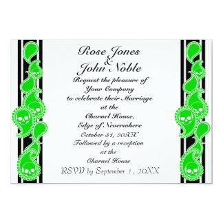"Obverse (Lime) Wedding Invitation 5"" X 7"" Invitation Card"