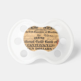 Obverse of a $10 National Gold Bank Note ca. 1870 Pacifier