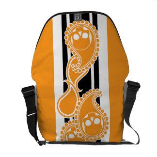 Obverse (Orange) Messenger Bag