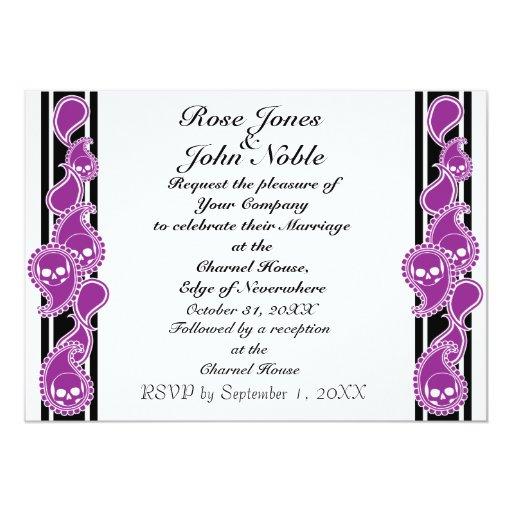Obverse (Purple) Wedding Invitation
