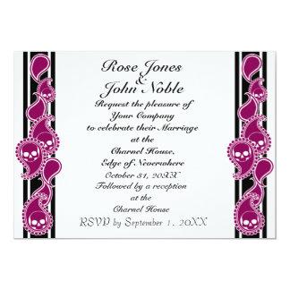 Obverse (Red-Violet) Wedding Invitation