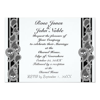 "Obverse (Smoke) Wedding Invitation 5"" X 7"" Invitation Card"