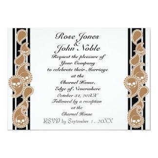 "Obverse (Tan) Wedding Invitation 5"" X 7"" Invitation Card"