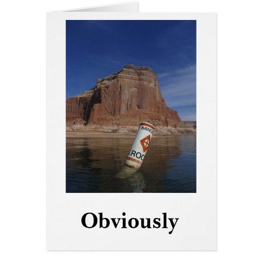Obviamente pero déme una muestra de todos modos tarjeta de felicitación