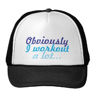 Obviamente yo entrenamiento mucho gorras de camionero