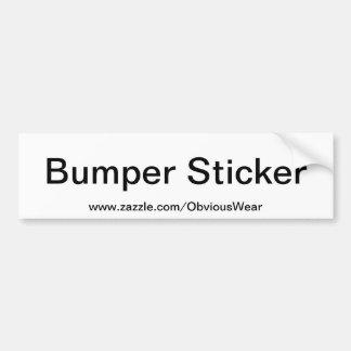 Obvious Bumper Sticker Car Bumper Sticker