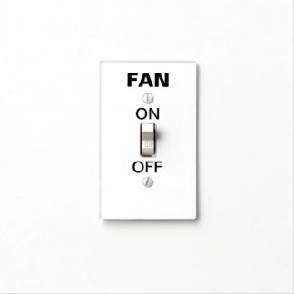 Obvious Fan Switch Light Switch Plate