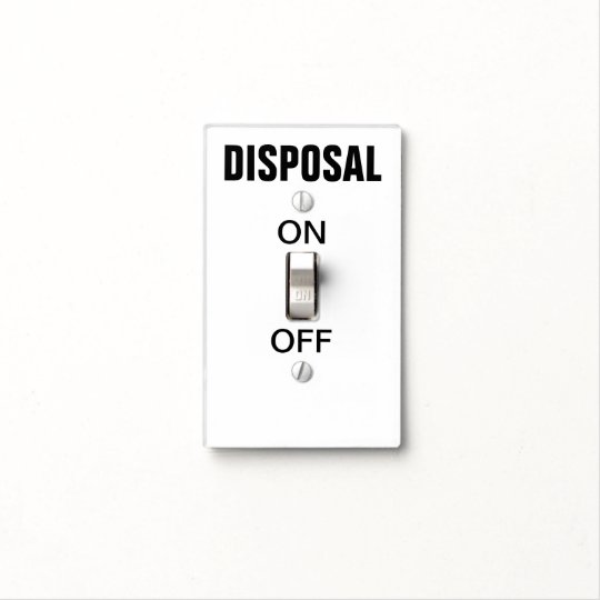 Obvious Garbage Disposal Switch Light Cover