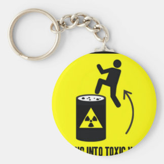 obvious warning sign keychain
