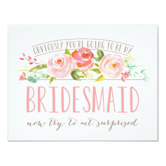 Obviously Bridesmaid Rose Garden Card