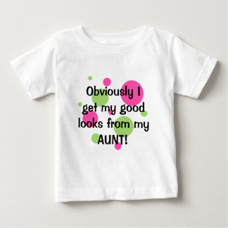 Obviously Good Looks Aunt Pink T Shirt