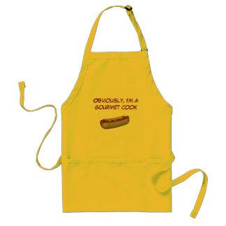 """Obviously, I'm a Gourmet Cook"" - Hotdog Design Adult Apron"