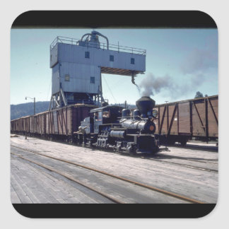 OBW 18 ton Shay locomotive #1_Trains Square Sticker