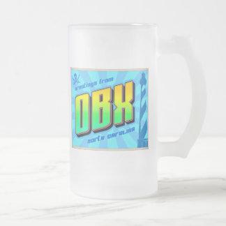 OBX 16 OZ FROSTED GLASS BEER MUG