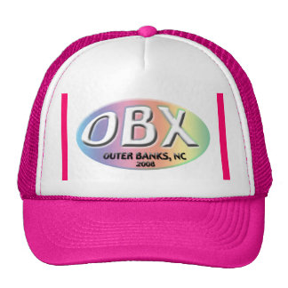 obx 2008 Pink Outer Banks NC  hat