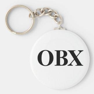 OBX BASIC ROUND BUTTON KEYCHAIN
