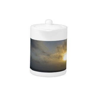 OBX Beach Sunrise Teapot