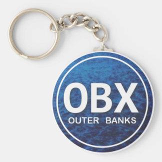OBX Beach Tag Keychain
