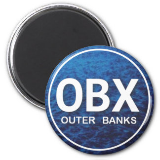 OBX Beach Tag 2 Inch Round Magnet