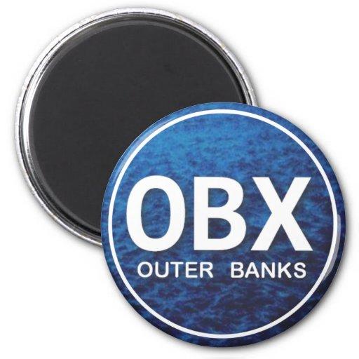OBX Beach Tag Refrigerator Magnet