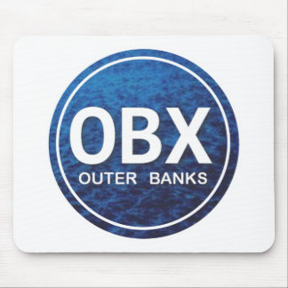 OBX Beach Tag Mouse Pad