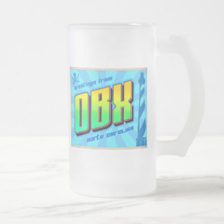OBX FROSTED GLASS BEER MUG