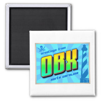 OBX 2 INCH SQUARE MAGNET