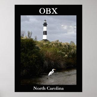 OBX, North Carolina Lighthouse Poster